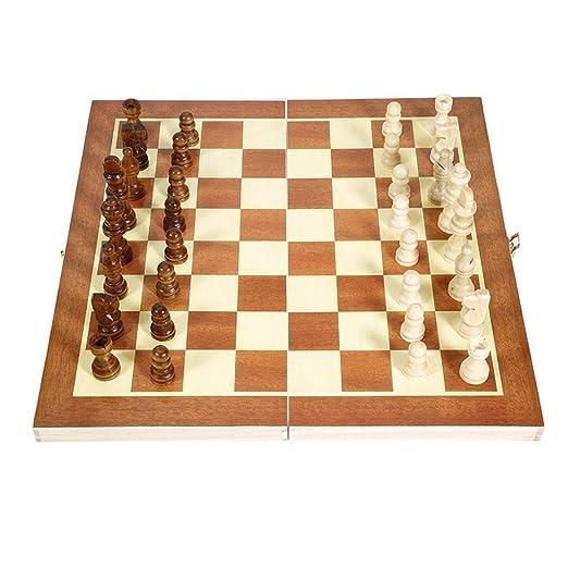 Zyj-Chess Ajedrez de Viaje Juegos de Viaje portátil Plegable de ...
