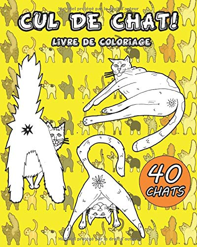 Amazon Fr Cul De Chat 40 Fesses De Chat Droles A Colorier Entierement Livre De Coloriage Relaxant Pour Adultes Livre Cadeau Parfait Pour Les Amoureux Des Chats Mandala Creative Livres