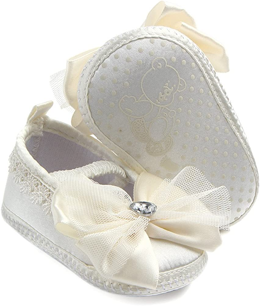 Aorme Ivory Christening Shoes Toddler