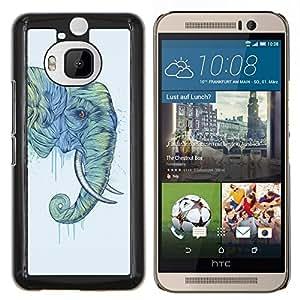 "Be-Star Único Patrón Plástico Duro Fundas Cover Cubre Hard Case Cover Para HTC One M9+ / M9 Plus (Not M9) ( Trompa de Elefante Pintura Arte de Animales Salvajes"" )"