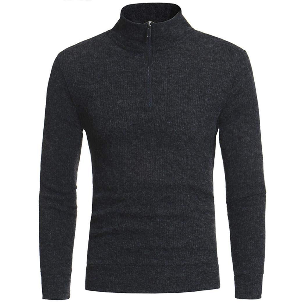 Resplend Suéter de Cremallera de Moda Casual para Hombres de Cuello Alto Tops Blusa: Amazon.es: Ropa y accesorios
