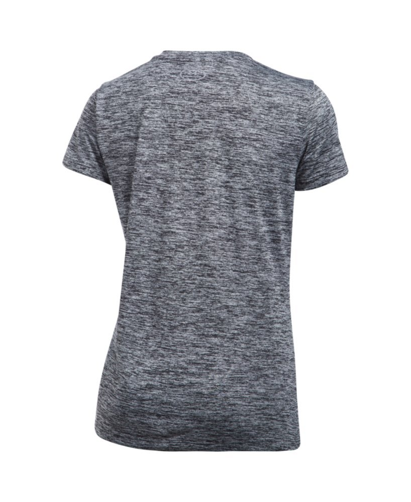 Under Armour Women's Tech Twist V-Neck, Black /Metallic Silver, X-Small by Under Armour (Image #4)