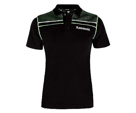 Kawasaki Deportivo Camiseta Polo de Mujer Negro: Amazon.es: Ropa y ...
