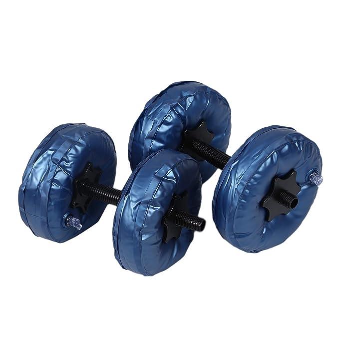 SODIAL - Juego de 2 Mancuernas Ajustables de PVC de 5 a 10 kg para ...
