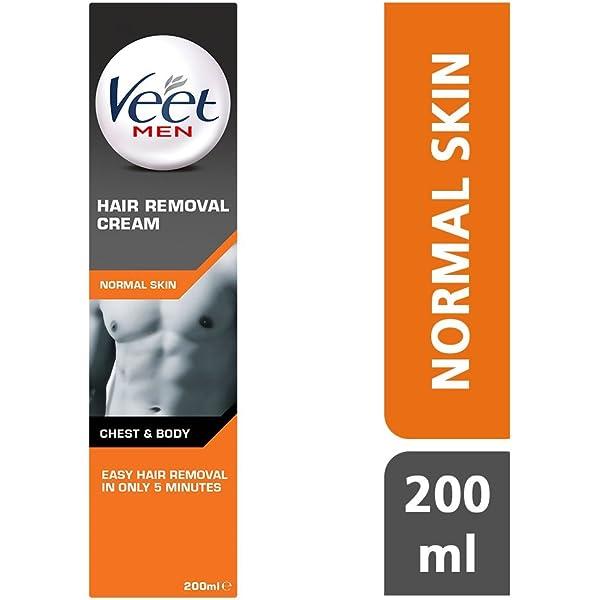 Veet for Men Crema depilatoria en Spray para hombre, Piel ...