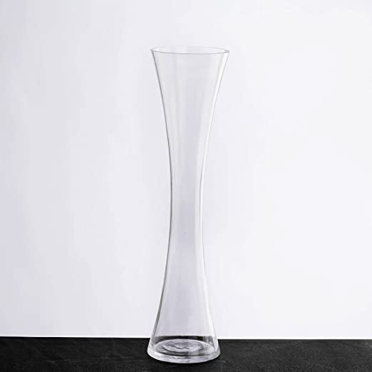 Amazon Com Balsacircle 12 Pcs 16 Tall Clear Glass Hourglass Vases For Wedding Party Flowers Centerpieces Home Decorations Cheap Bulk Supplies Home Kitchen