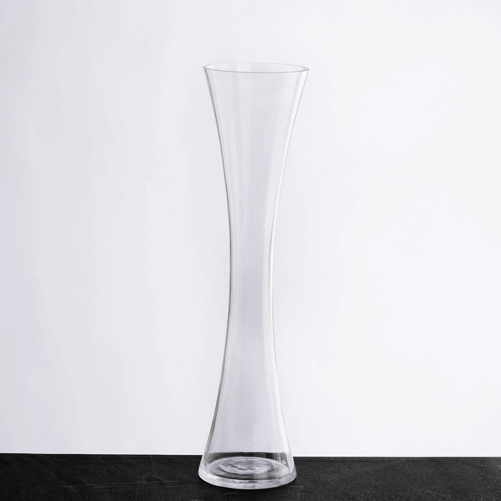 BalsaCircle 12 pcs 16'' tall Glass Hourglass Vases Wedding Party Centerpieces - Clear