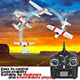 Remote Control Airplane for Beginners &Intermediate Flight Game Players F949 3CH 2.4G RC Airplane RTF Glider EPP Composite Material 14+,Designed According To Cessna-182 Plane (White)