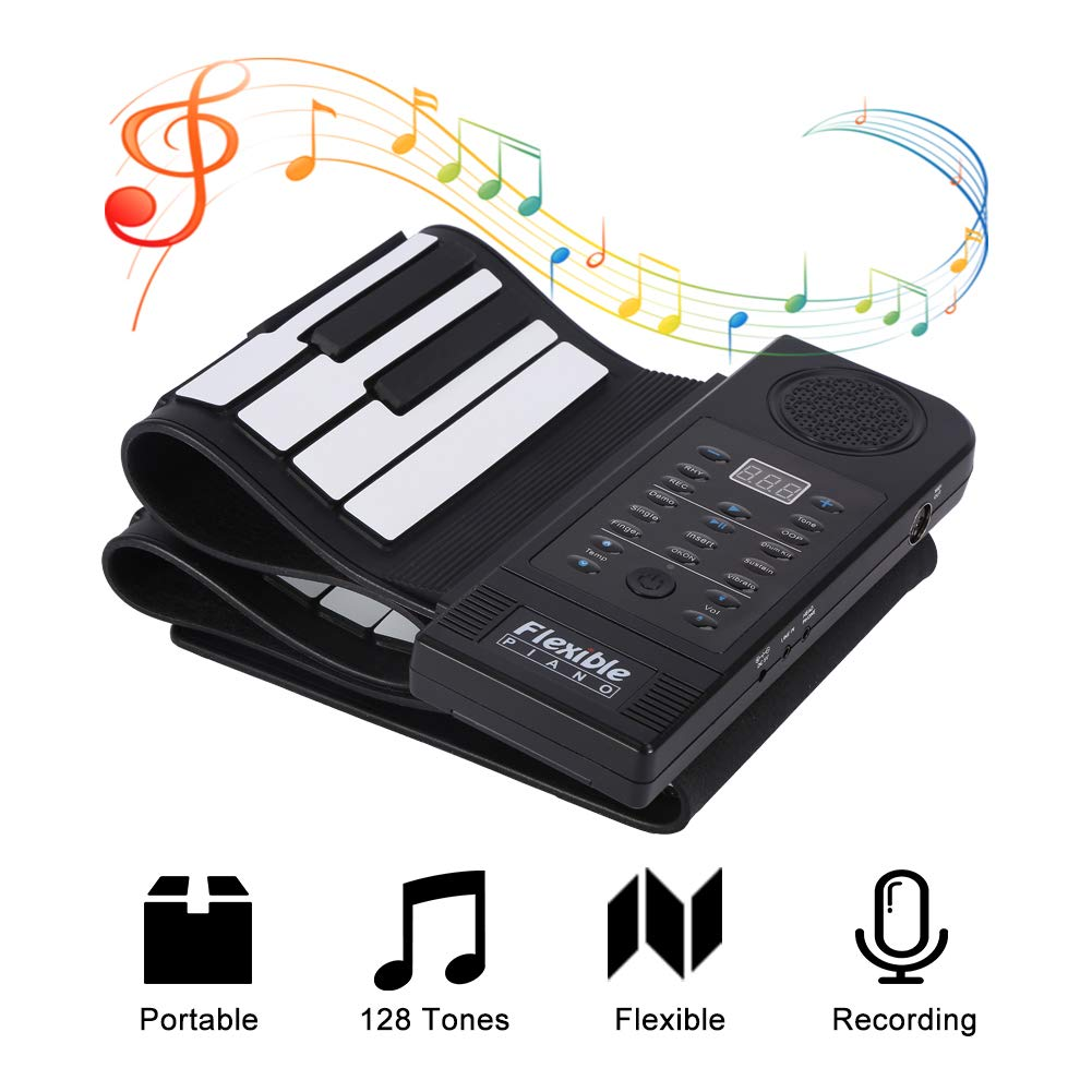 fosa Portable 61-Keys Roll up Soft Silicone Flexible Electronic Digital Music Keyboard Piano New by fosa