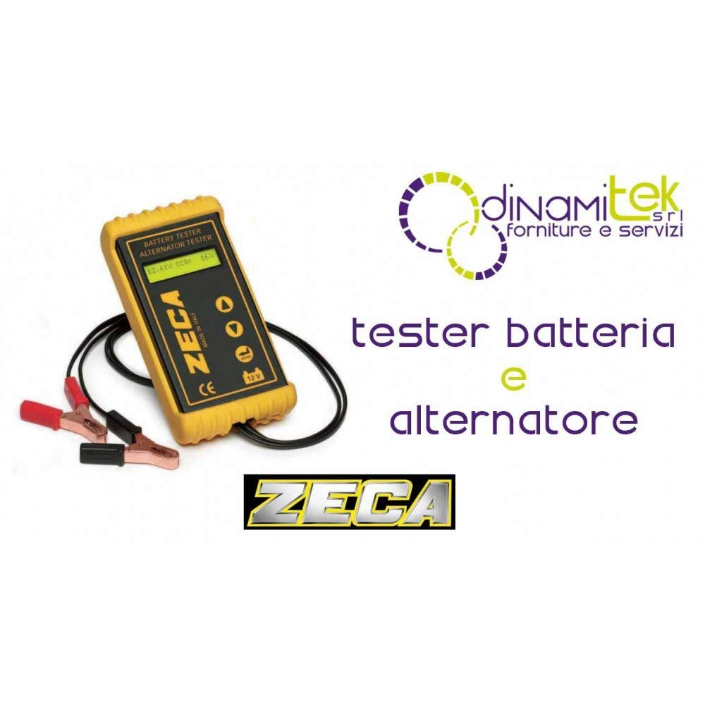 Tester per Batterie Avviamento e Alternatori (2 in 1) - Per Batterie Standard e a Gel. Il test NON SCARICA la batteria Zeca