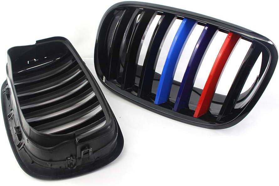 Yihaifu 1 Paire Gloss Black M Couleur Noir pour Grill Kidney Voiture Calandre X5 X5M X6 X6M E70 E71 08-13