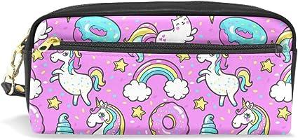 BONIPE - Estuche para lápices, diseño de unicornio, bolsa para maquillaje escolar: Amazon.es: Oficina y papelería