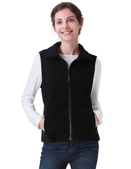 7eba8306687e0 CHICIRIS Women s Standard Lightweight Water-Resistant Packable Vest Black  Size S