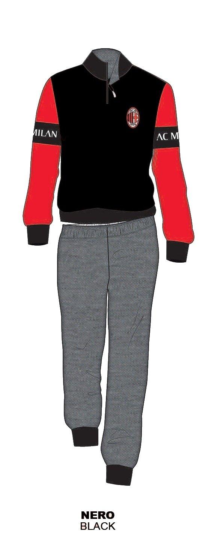 Pijama Milan franela chándal oficial niño niño mi14062ne, come da ...