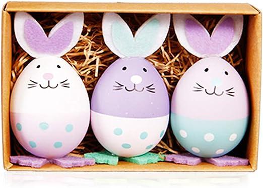 ecmqs huevo de conejo – 3 piezas dibujo animado de huevos de ...