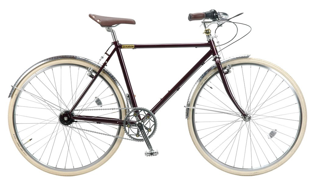 【 BURLINGTON BICYCLE i5 700C@84240 】 バーリントン i5 自転車 サイクル (ワイヤーロックサービス)(スタンド附属しません) B0753YN95Q CRIMSON CRIMSON