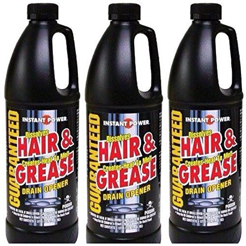 1L Grease Drain Opener (Pack of 3) (Best Drain Cleaner For Hair And Grease)