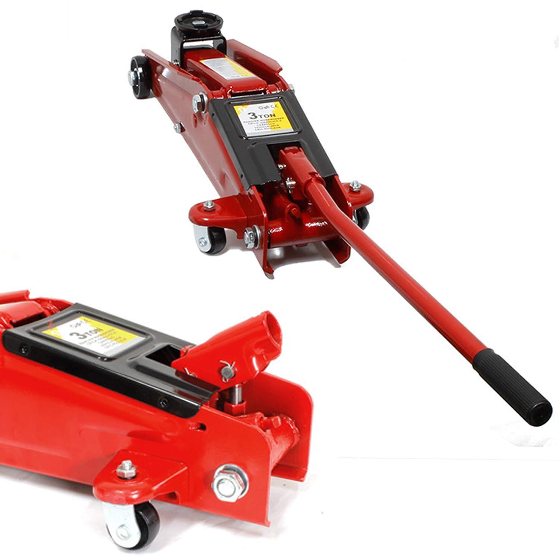 Miafamily Gato hidráulico de Carretilla 3 Toneladas Tuv/GS C/Maletin (Altura de elevación: 135 a 400mm/Rojo): Amazon.es: Coche y moto