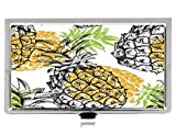 Watercolor Pineapple Style Fashion Design Personlized Stainless Steel Professional Business Card Holder