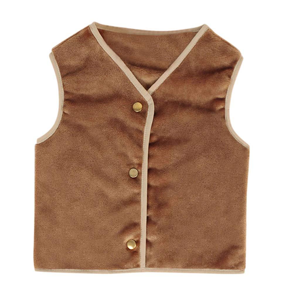 H.eternal Girls Gilet Baby Cotton Warm Vest Unisex Waistcoat Thick Winter Warm Tops Outerwear