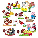 Little Folk Visuals Little Red Hen Felt Figures For Flannel Board Precut