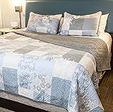 Sova 2-Piece Cottage Floral Cotton Quilt Set (Twin)