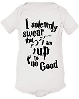 """333237bf35 Harry Potter Inspired Kids Bodysuit """"I Solemnly Swear That I am Up to No  Good"""