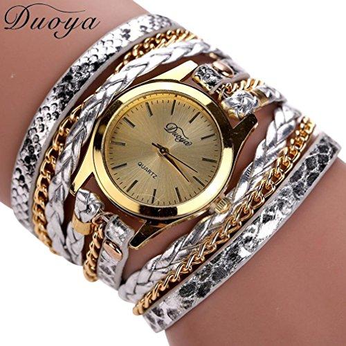Hot Watches! AMA(TM) Women Luxury Beaded Bracelet Analog Quartz Wrist Watch Gift (Butterfly Wings Costume Diy)