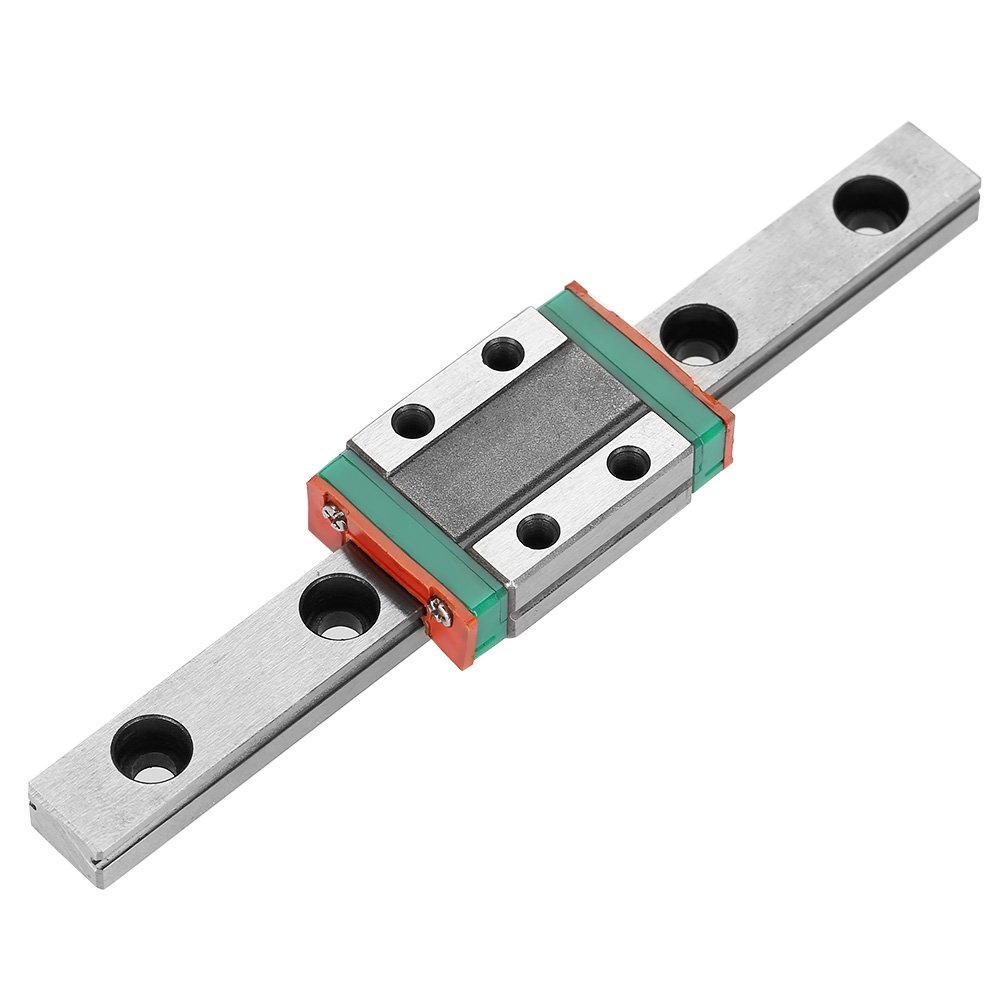 100 9mm LML9B Bearing Steel Miniature Linear Rail Guide Rail Width with 1pc Slide Block 1pc Linear Guide Rail