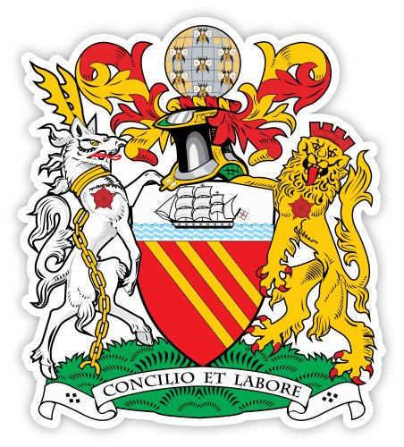 Manchester city coat of arms sticker decal 4
