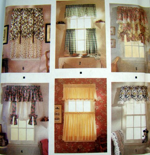 SIMPLICITY 7203 / 0687 ABBIE'S JIFFY SIX PACK WINDOW TREATMENTS SEWING PATTERN (ABBIE'S JIFFY 6 PACK)