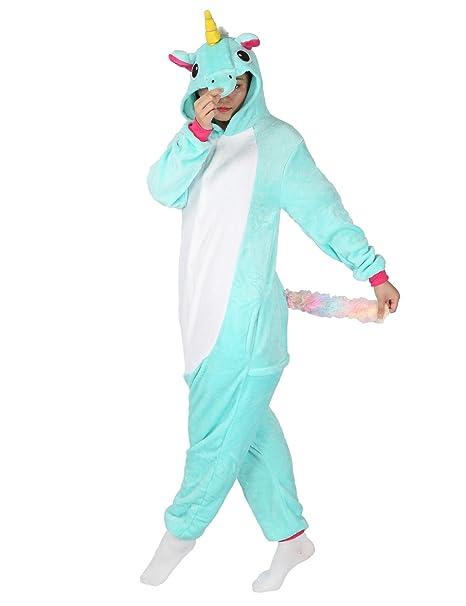 Pigiama Unicorno Adulto Donna e Uomo Animale Jumpsuit Cosplay Festa Costume