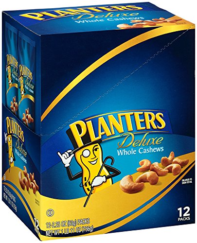 Planters Deluxe Cashews, 12 Count by Planters