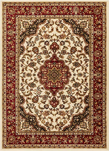 Well Woven Barclay Medallion Kashan Ivory Traditional Area Rug 9'3'' X 12'6''