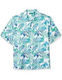 Men's Geometric Palm Print Shirt