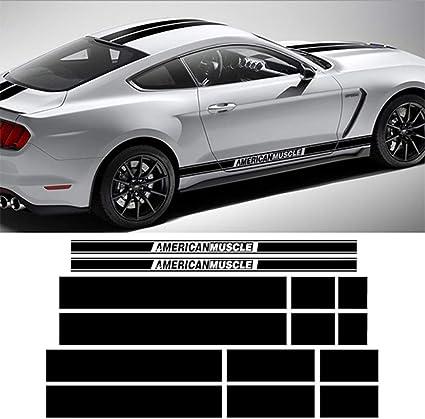Graphics Motorsport Racing Sticker Bonnet Decal Skirt Stripe For Ford Mustang