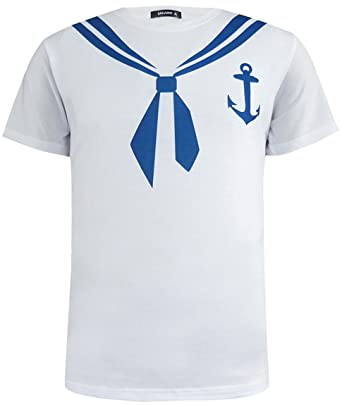1dcfd5b91 Amazon.com: Funny World Men's Sailor and Navy Costume T-Shirts: Clothing