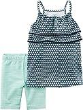 Carter's Baby Girls' 2-Piece Geo Print Tank And Biker Shorts 9 Months