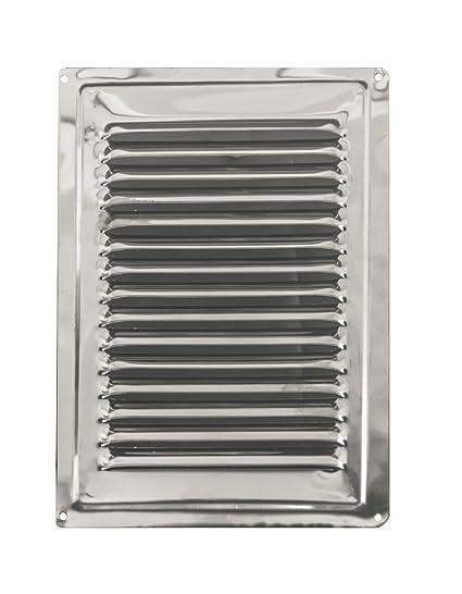 Aire rejilla de ventilación, de acero inoxidable no magnético de acero inoxidable rejilla de ventilación 180 mm x 250 mm (7 x 10 cm), acero inoxidable ...