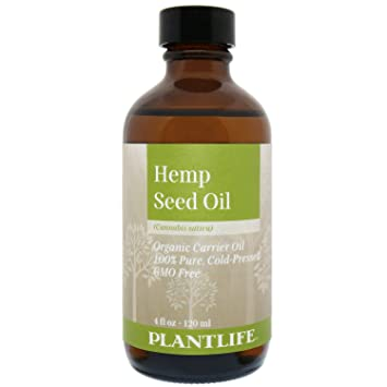 Amazon Com Plantlife Organic Hemp Seed Carrier Oil 4 Oz 100 Pure Cold Pressed Base Oil For Aromatherapy Beauty