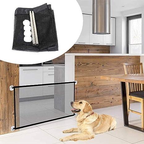180 x 72cm para Mascotas Red de Seguridad para Mascotas para Interior Plegable y Port/áTil Puerta M/ágica para Cualquier Lugar Pasillo Puerta Escalera Interior Nifogo Magic Pet Gate para Perros