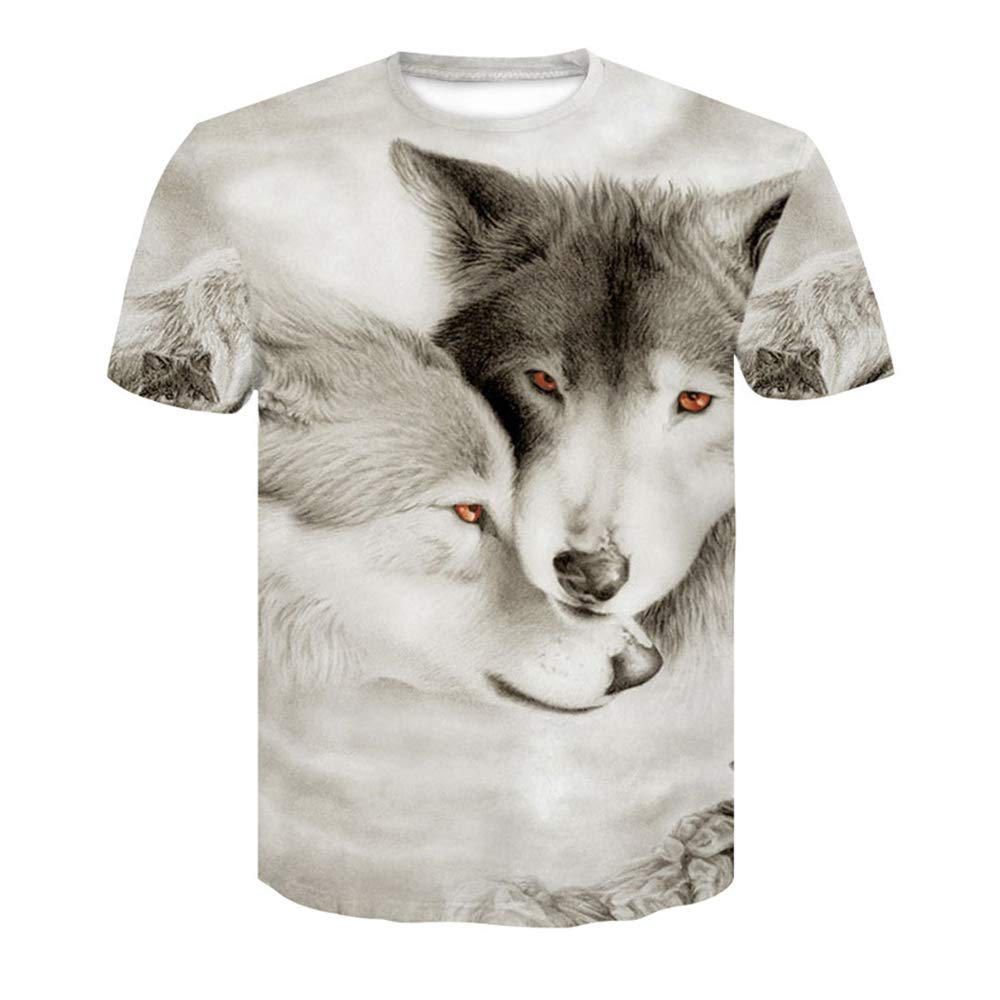 Unisex/3D/Printed/T/Shirts/Short Sleeve T-Shirt with 3D Digital Printing from Man and Europe