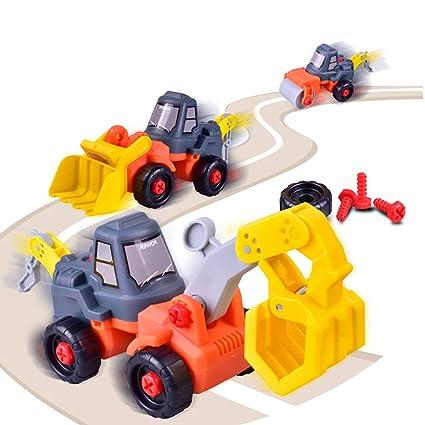 tianranrt montaje y desmontaje Bulldozer Tractor Auto Forma juguete Niños Navidad Regalo