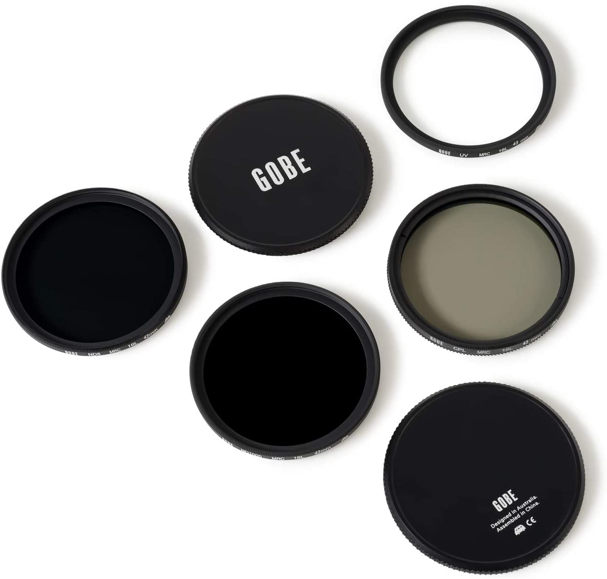 Gobe 37 mm UV Filter Polfilter Graufilter ND8 CPL Graufilter ND1000 Filter Kit 2Peak