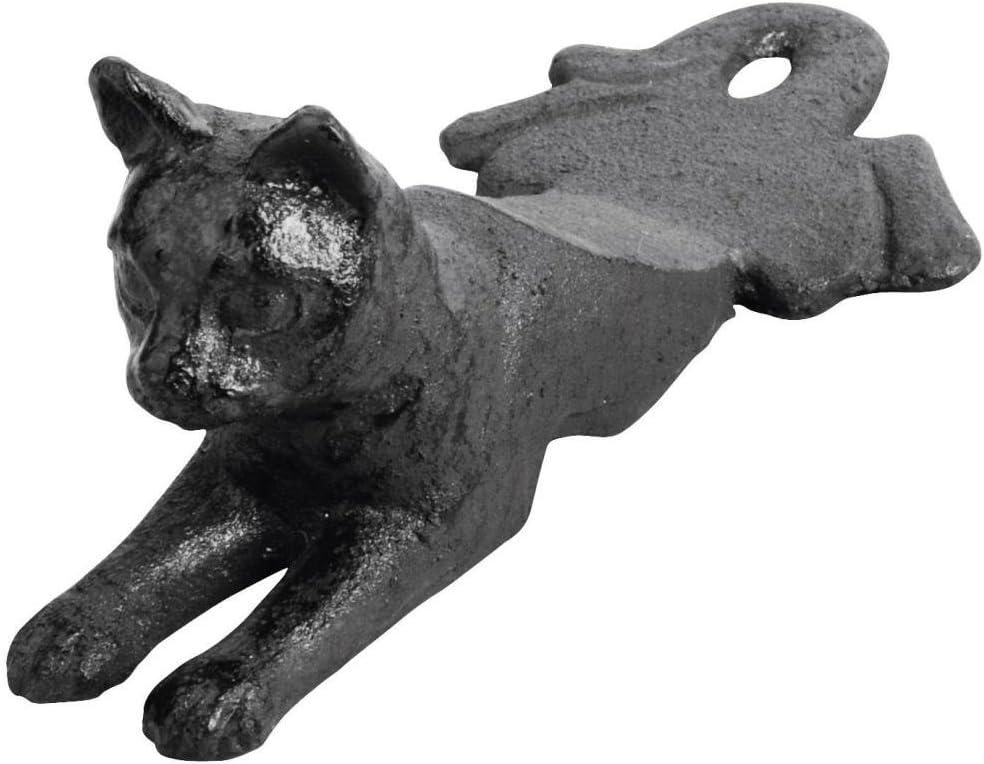 Esschert LH130 - Tope para Puerta (8 x 17 x 7 cm, Hierro Fundido), diseño de Gato