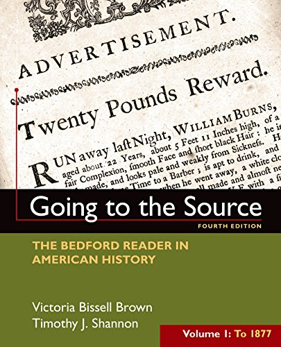 Going To The Source:Bedford Reader,V.1