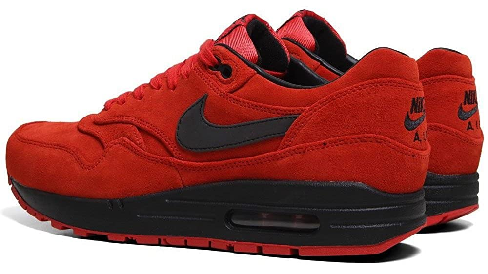 check out e438c edc4a Amazon.com   Nike Air Max 1 Premium (Suede Pack) Pimento Black-Black Size  10.5   Running