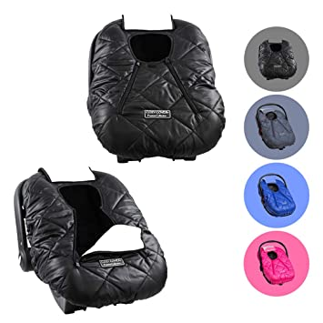 Tremendous Cozy Cover Premium Infant Car Seat Cover Black With Polar Fleece The Industry Leading Infant Carrier Cover Trusted By Over 6 Million Moms For Inzonedesignstudio Interior Chair Design Inzonedesignstudiocom