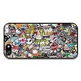 Stickerbomb Graffiti Art Cartoon Monkey Pig Skull Sticker Bomb case for iPhone 5 5S