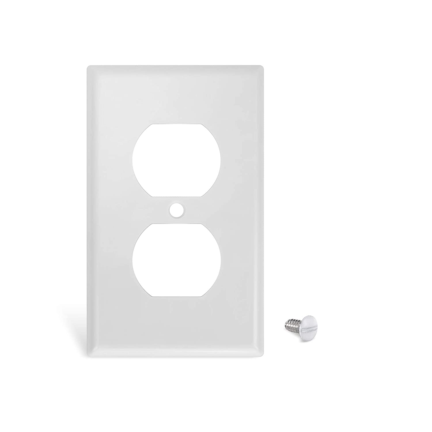 UL Listed White 10 Pack Single-Gang Duplex Receptacle Plastic Wall Plate